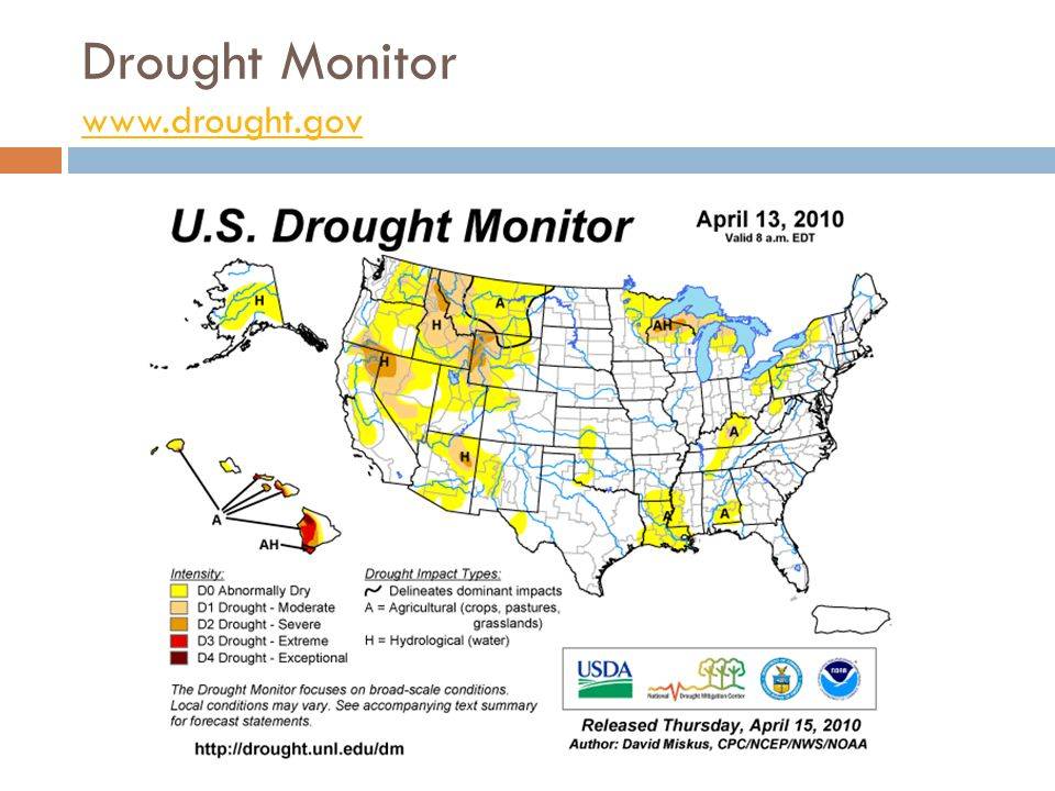 Drought Monitor www.drought.gov www.drought.gov