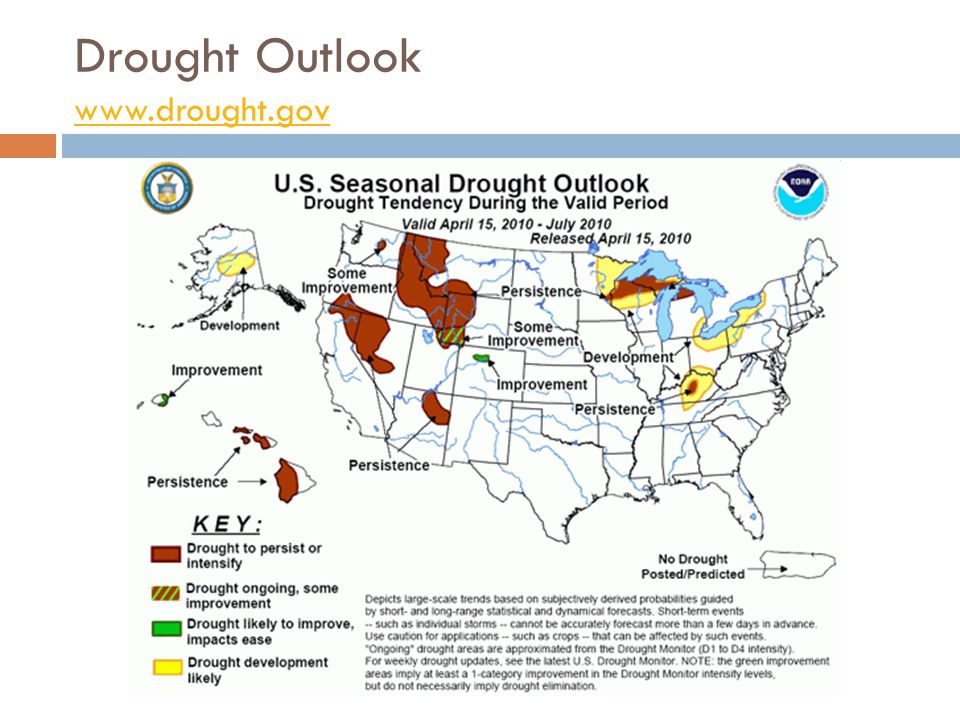 Drought Outlook www.drought.gov www.drought.gov