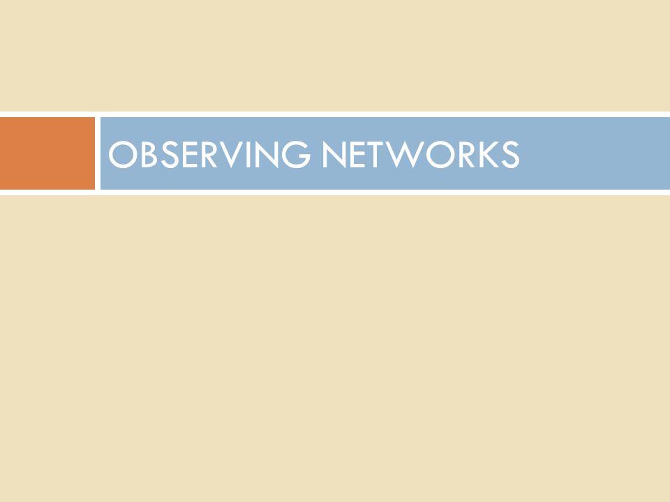 OBSERVING NETWORKS