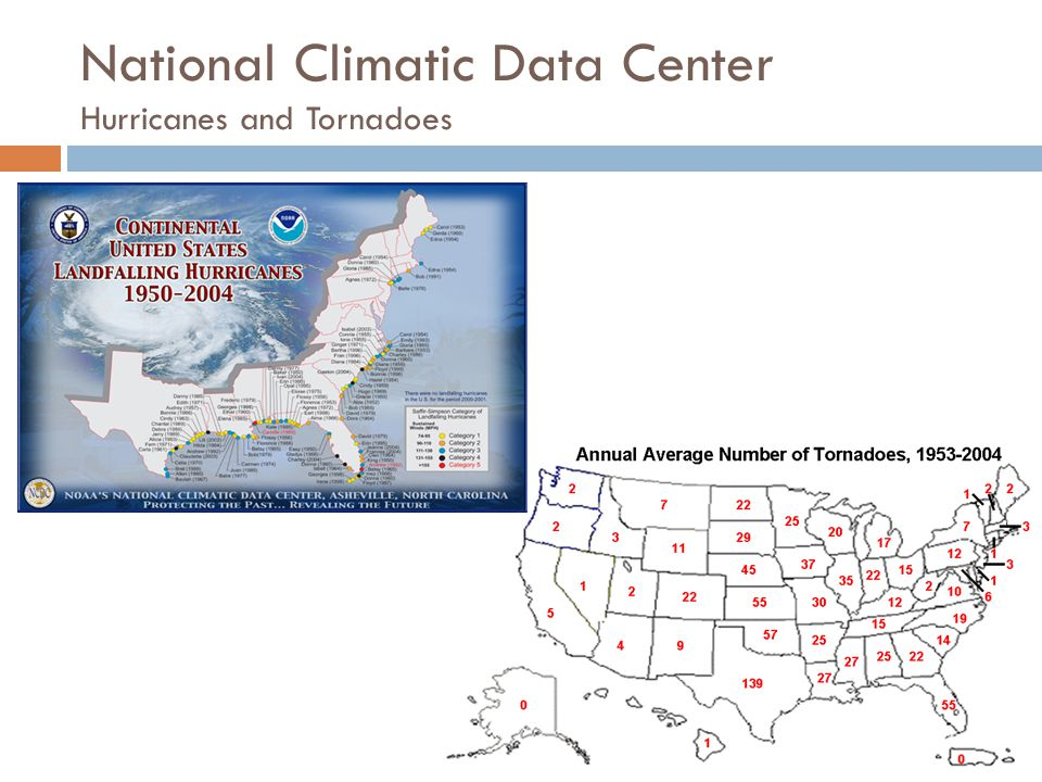 National Climatic Data Center Hurricanes and Tornadoes