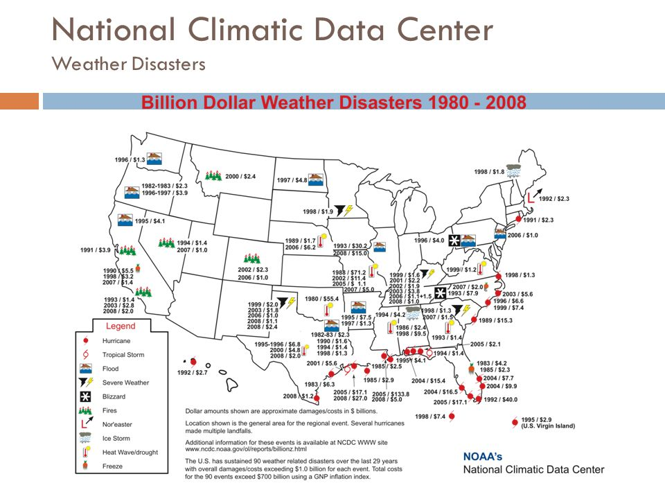 National Climatic Data Center Weather Disasters