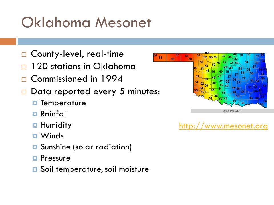 Oklahoma Climate Survey http://climate.ocs.ou.edu http://climate.ocs.ou.edu