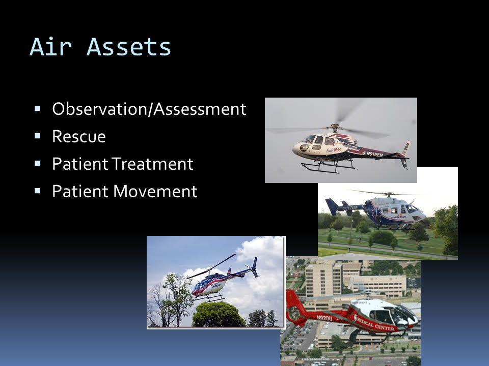 Air Assets  Observation/Assessment  Rescue  Patient Treatment  Patient Movement