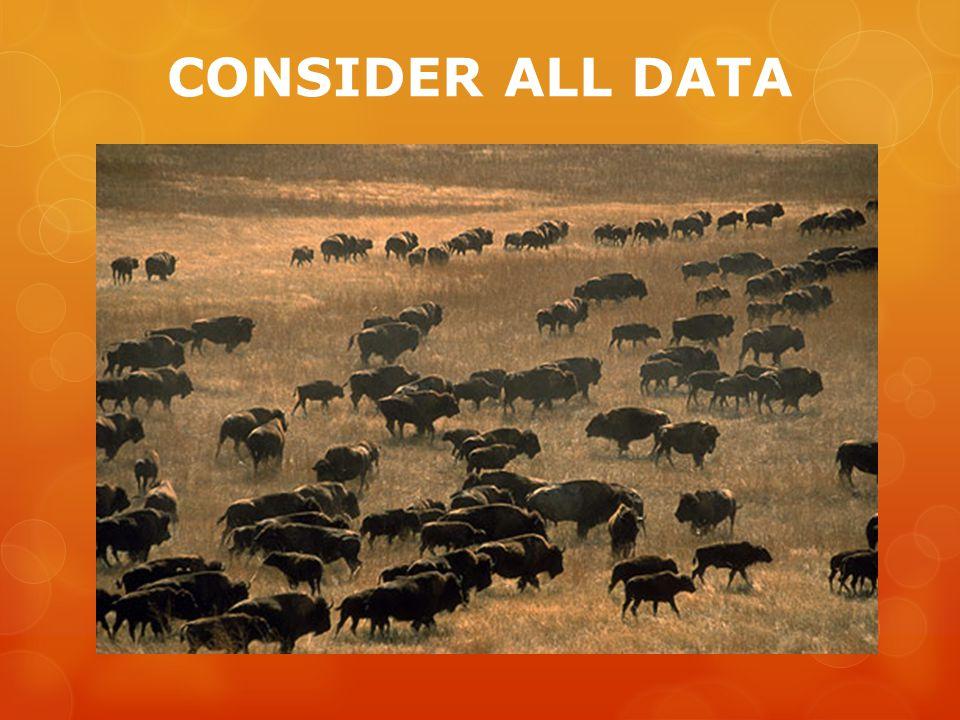 CONSIDER ALL DATA