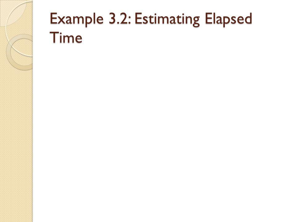 Example 3.2: Estimating Elapsed Time