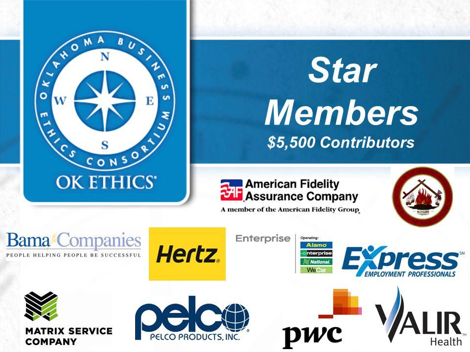 Star Members $5,500 Contributors