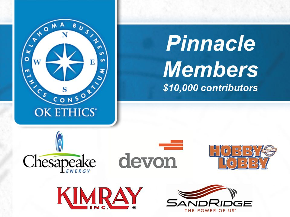 Pinnacle Members $10,000 contributors
