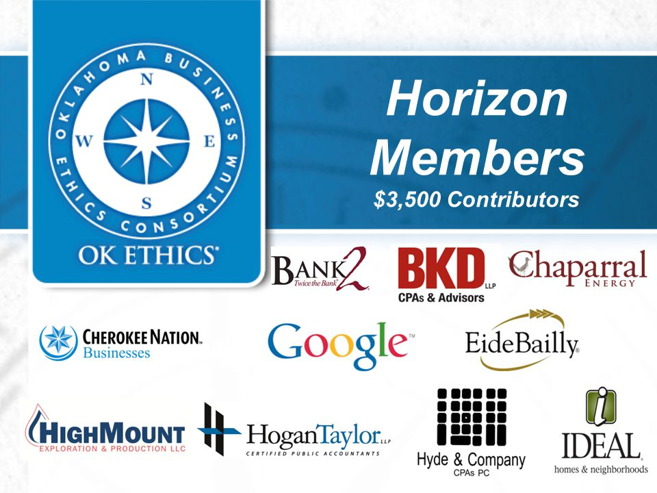 Horizon Members $3,500 Contributors