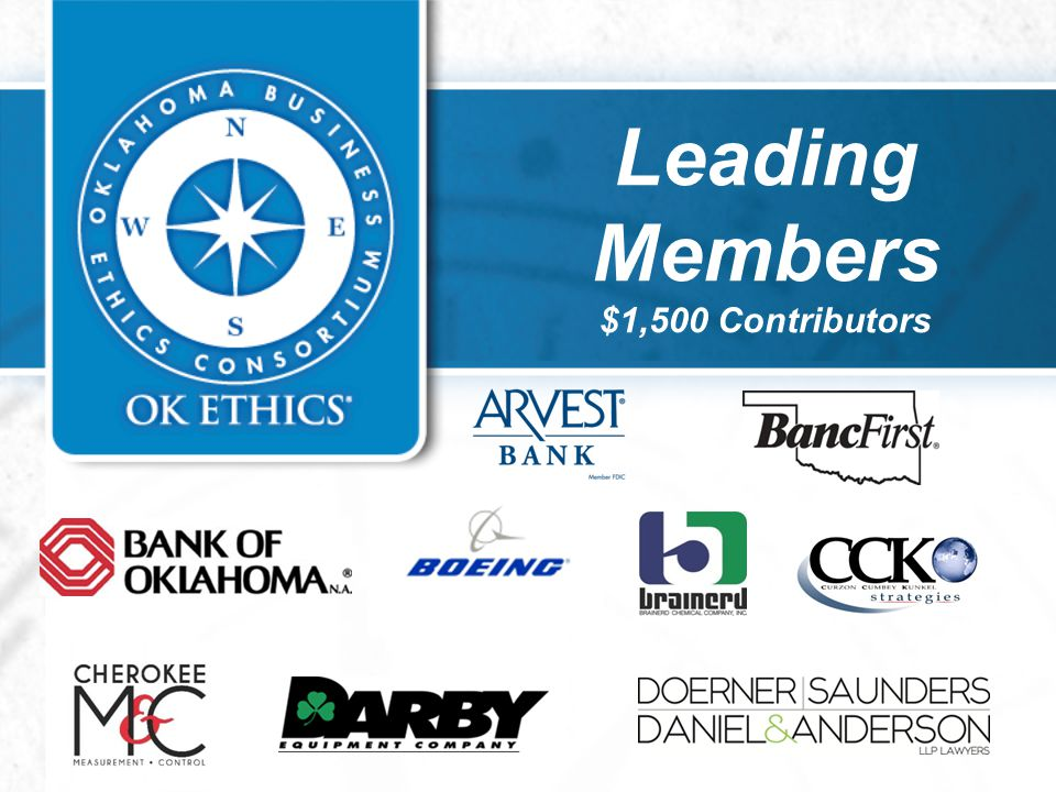 Leading Members $1,500 Contributors