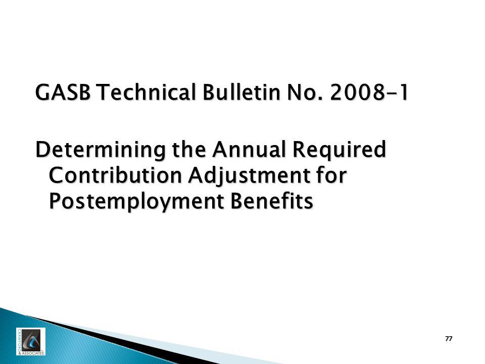 GASB Technical Bulletin No.