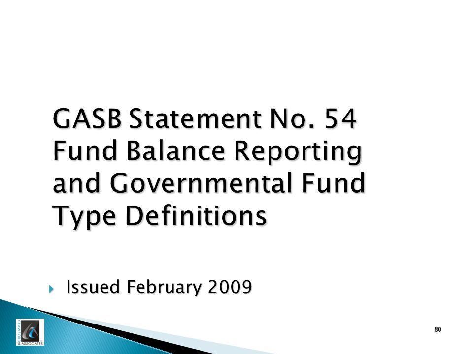 80 GASB Statement No.