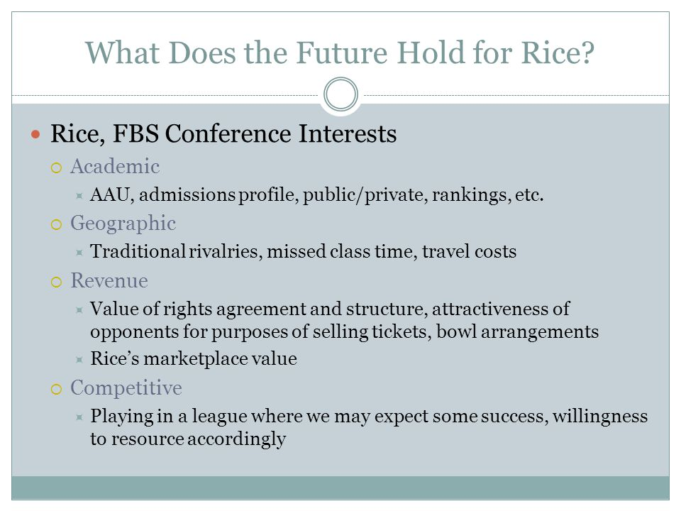 What Does the Future Hold for Rice.