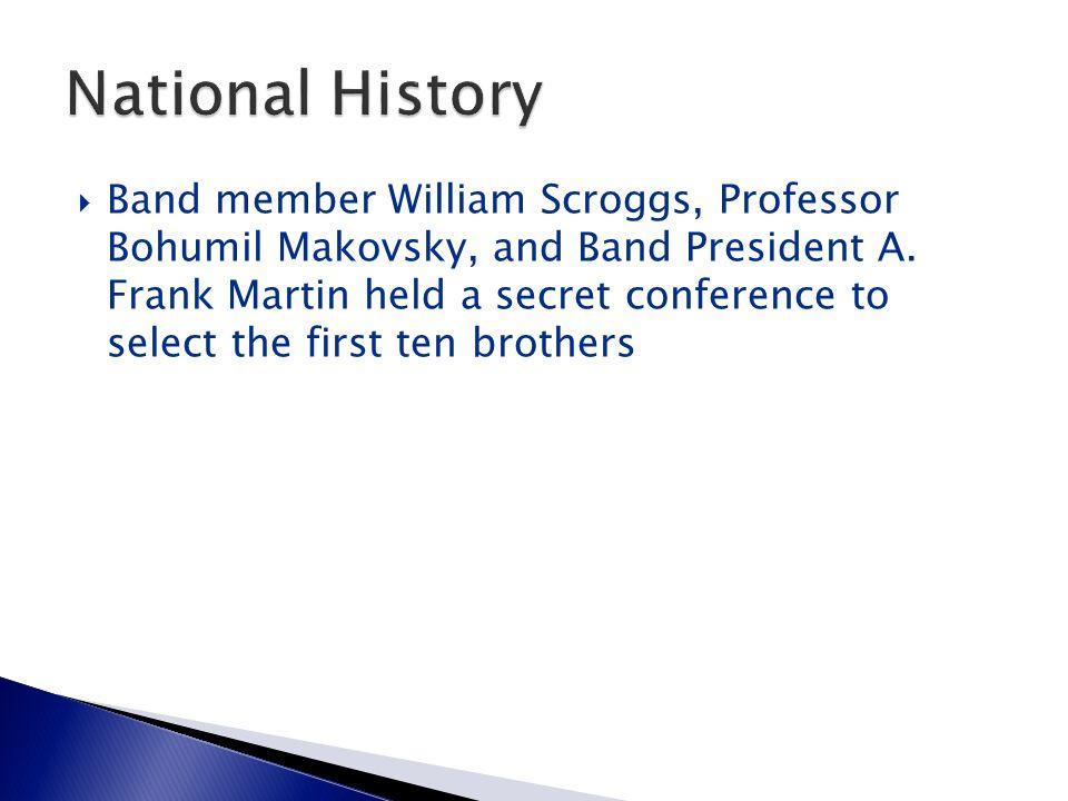  Band member William Scroggs, Professor Bohumil Makovsky, and Band President A.
