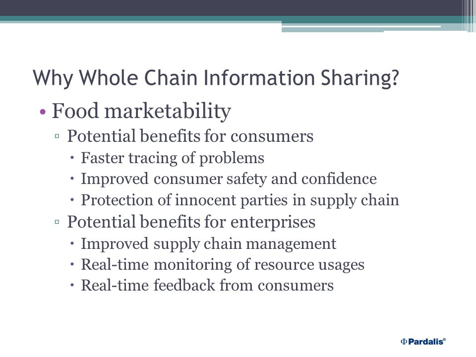 Why Whole Chain Information Sharing.
