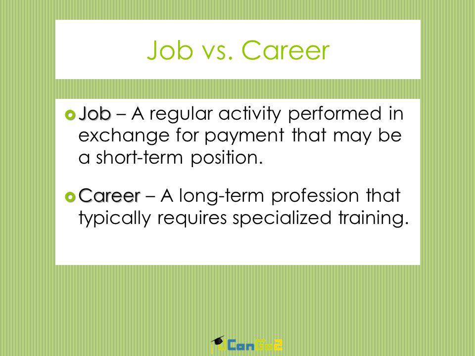 Job vs.