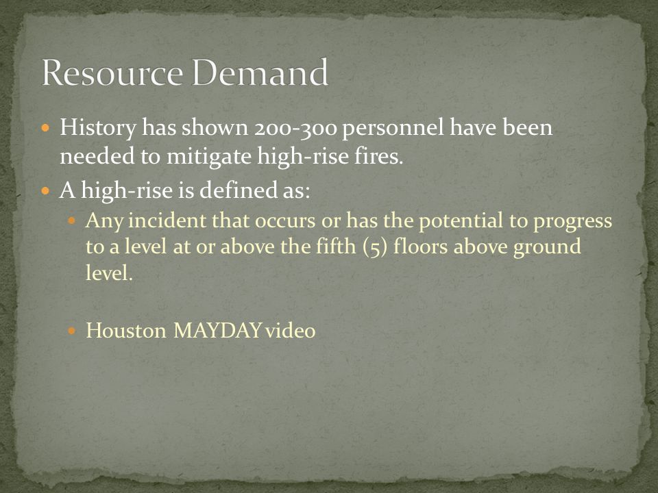 Assign specific companies to respond to reports of occupants in need of assistance.