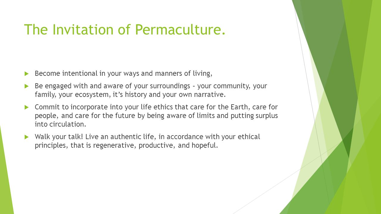 The Invitation of Permaculture.