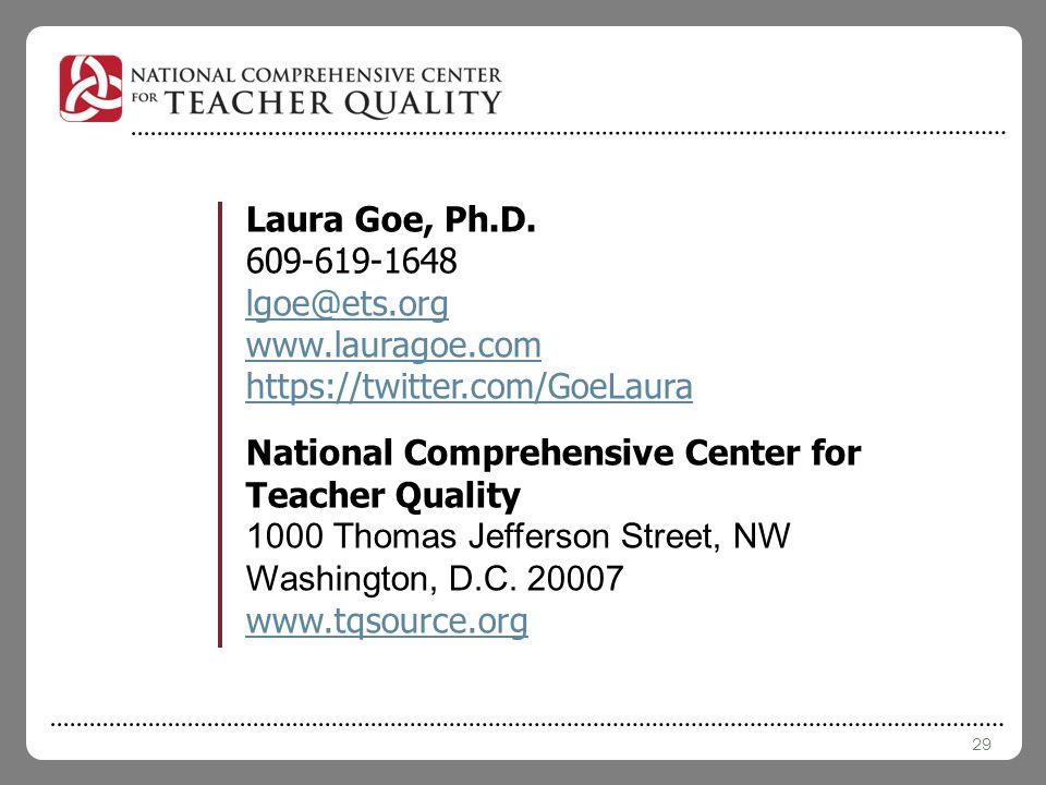 29 Laura Goe, Ph.D.