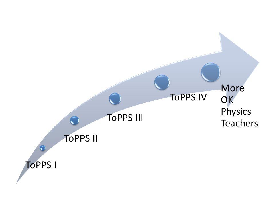ToPPS I ToPPS II ToPPS III ToPPS IV More OK Physics Teachers