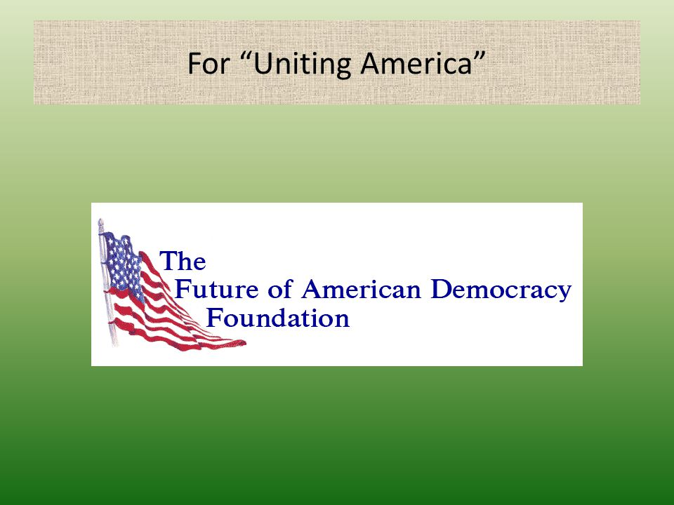 For Uniting America
