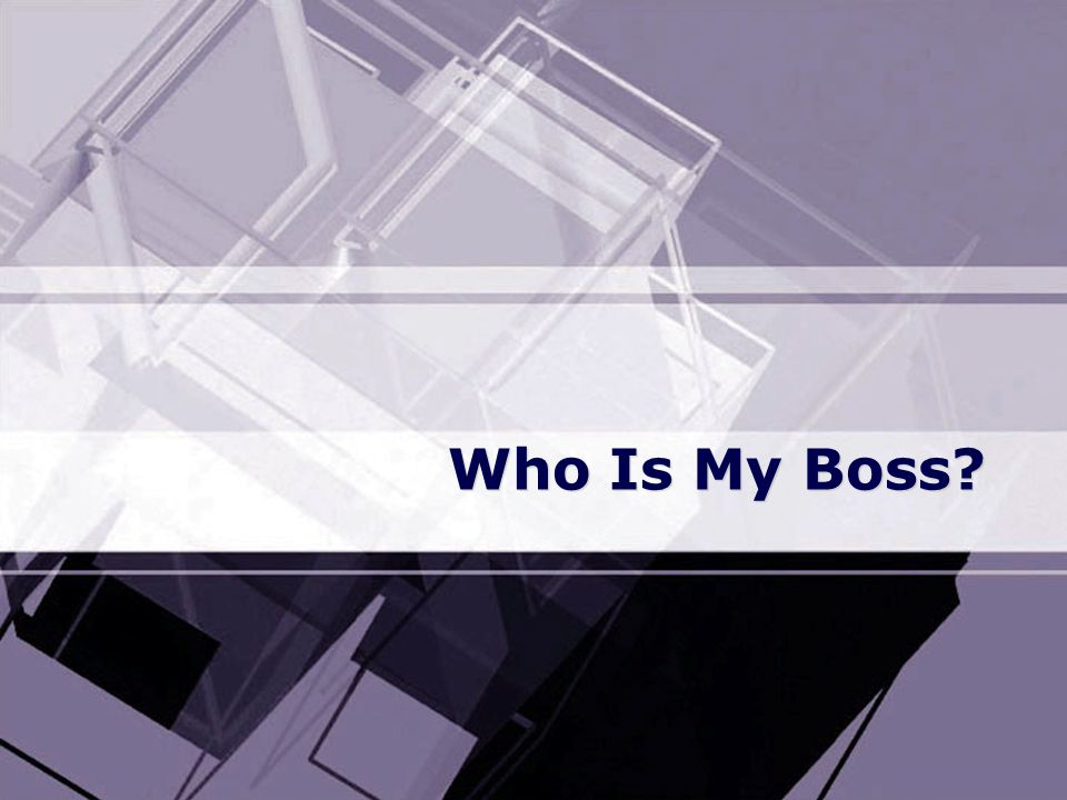 Who Is My Boss