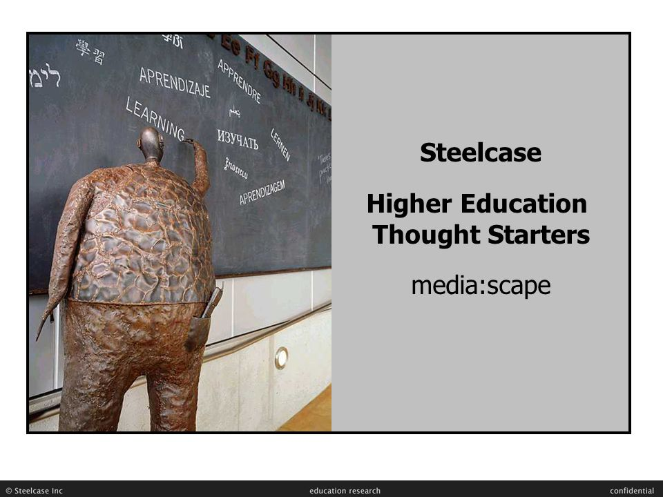 Steelcase Higher Education Thought Starters media:scape