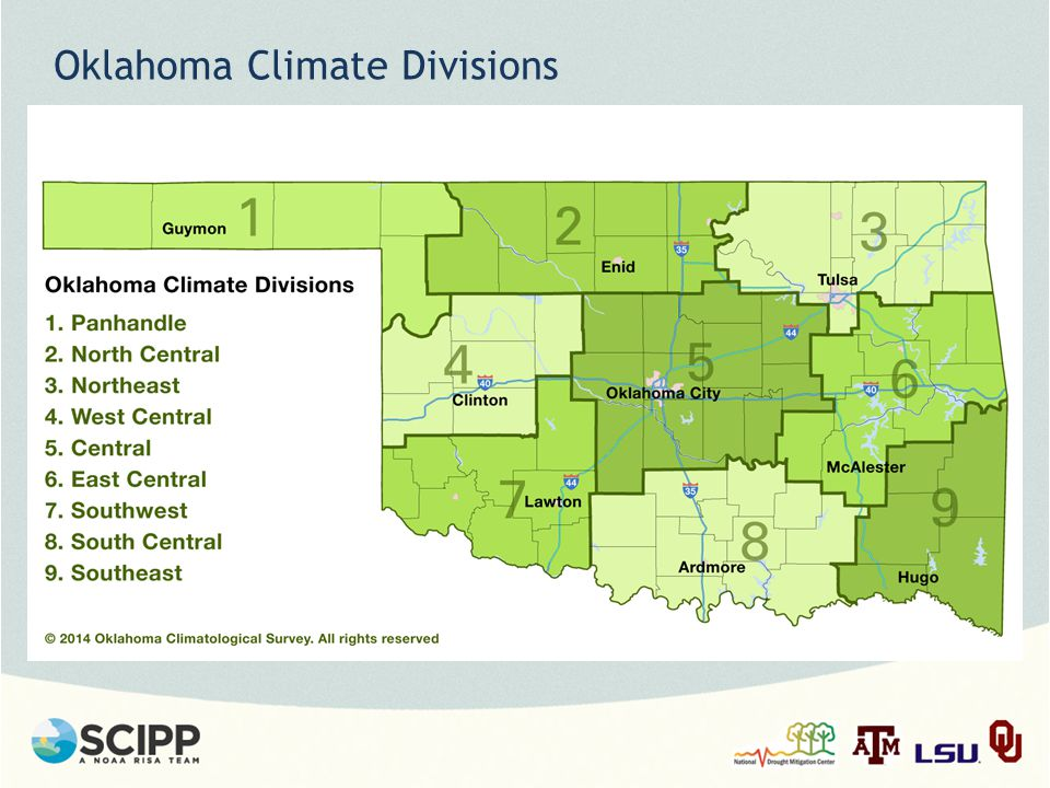 Oklahoma Climate Divisions