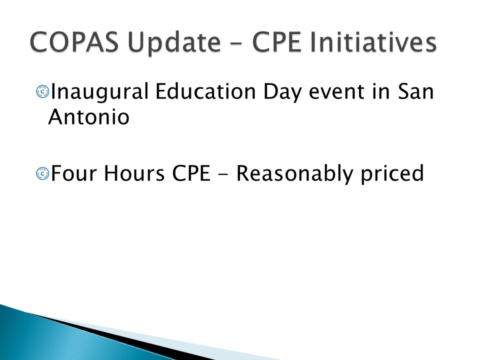 Inaugural Education Day event in San Antonio Four Hours CPE - Reasonably priced