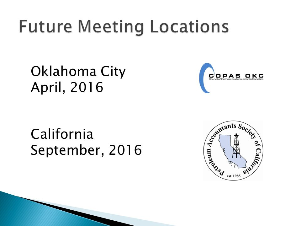Oklahoma City April, 2016 California September, 2016