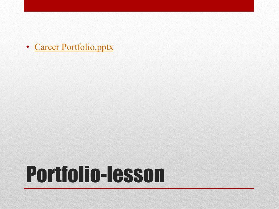 Portfolio-lesson Career Portfolio.pptx