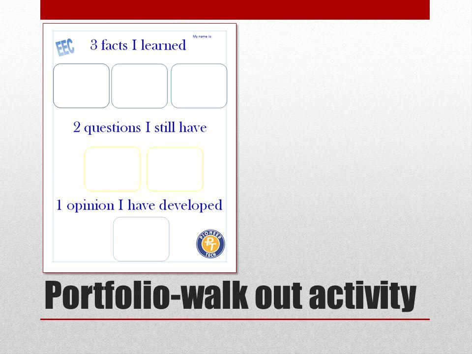 Portfolio-walk out activity