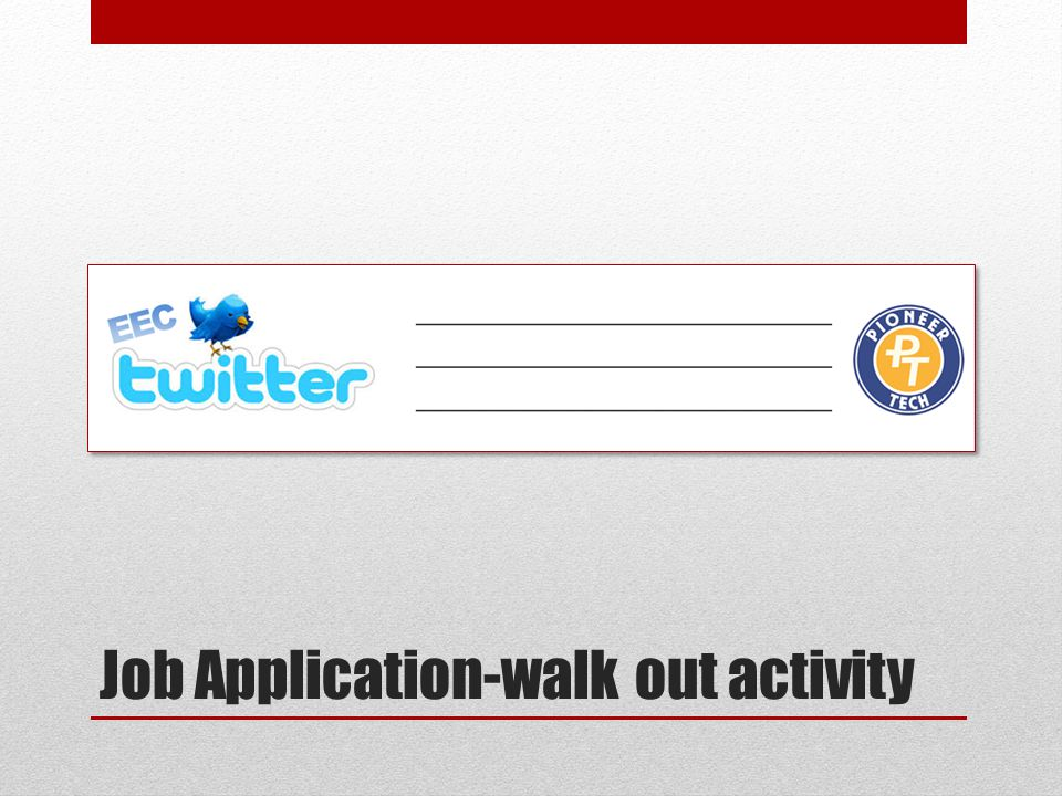 Job Application-walk out activity