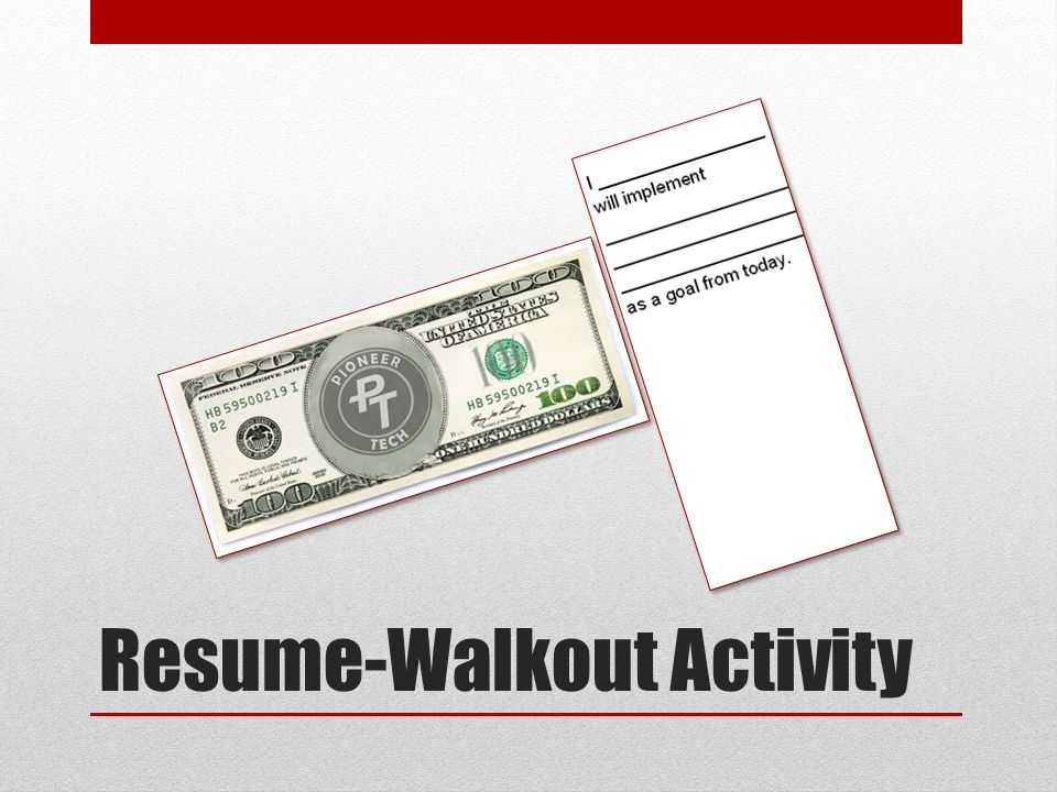 Resume-Walkout Activity