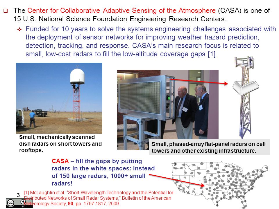 3  The Center for Collaborative Adaptive Sensing of the Atmosphere (CASA) is one of 15 U.S. National Science Foundation Engineering Research Centers.