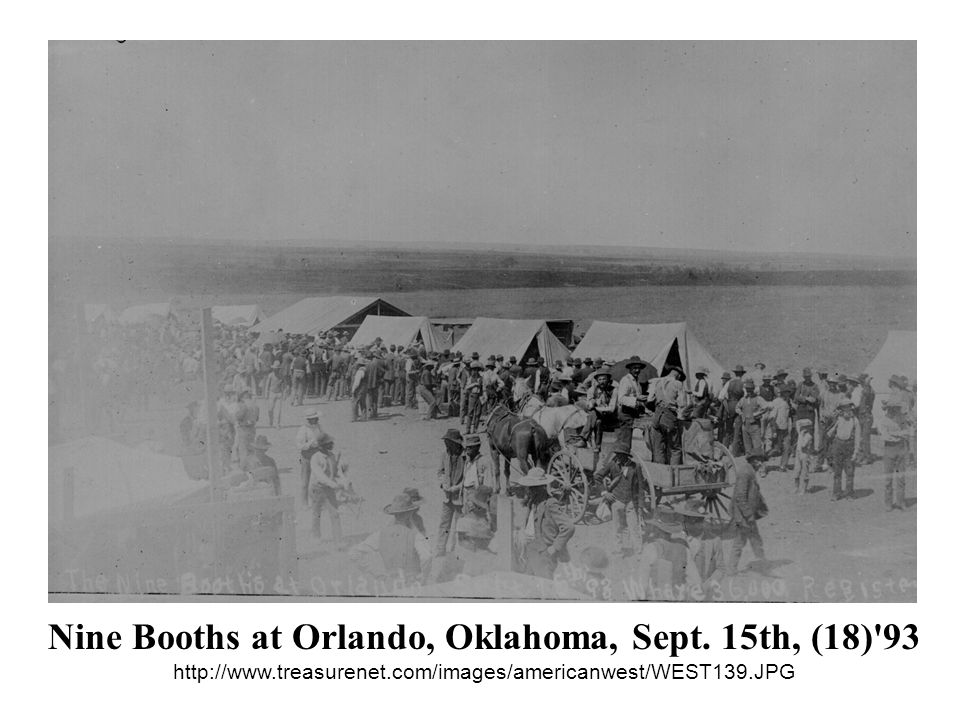 Nine Booths at Orlando, Oklahoma, Sept. 15th, (18)'93 http://www.treasurenet.com/images/americanwest/WEST139.JPG