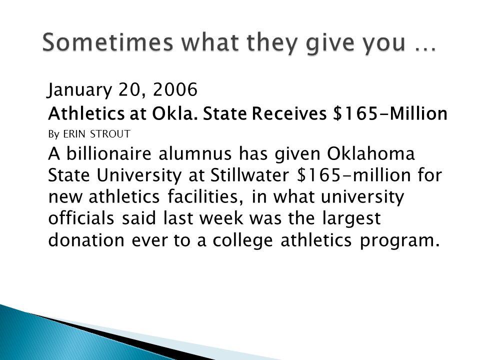 January 20, 2006 Athletics at Okla.