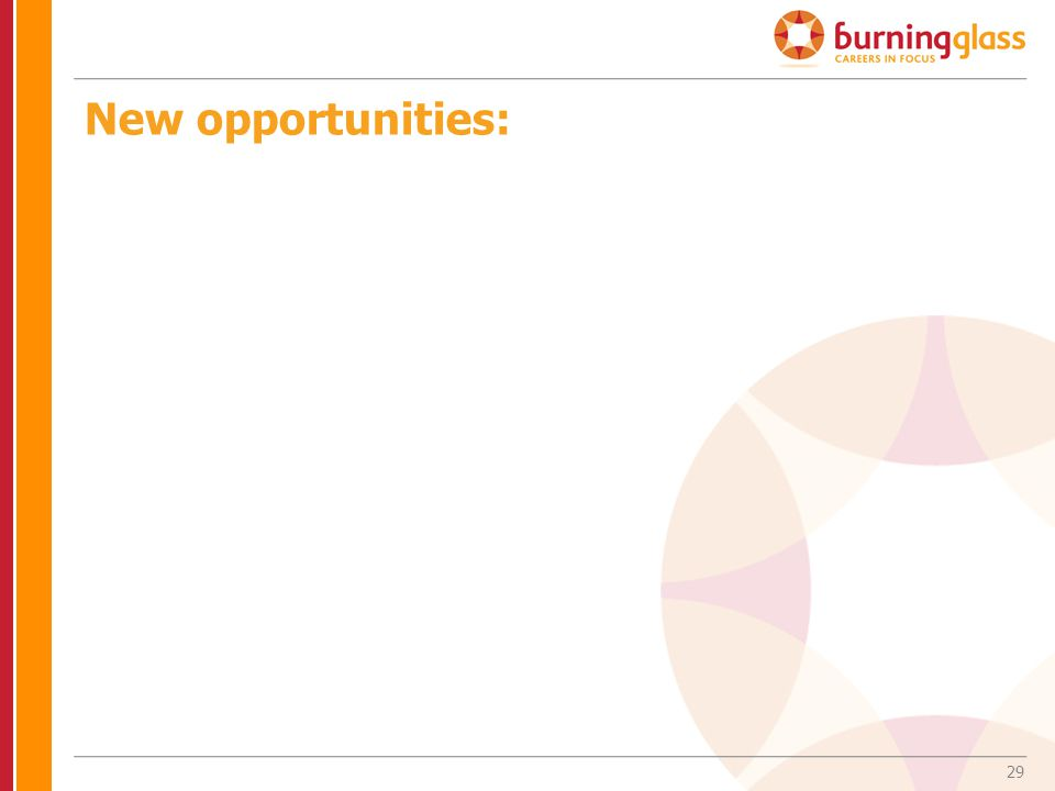 29 New opportunities:
