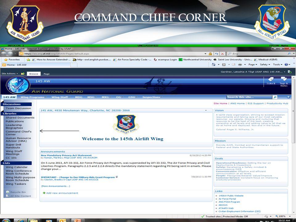 17 COMMAND CHIEF CORNER