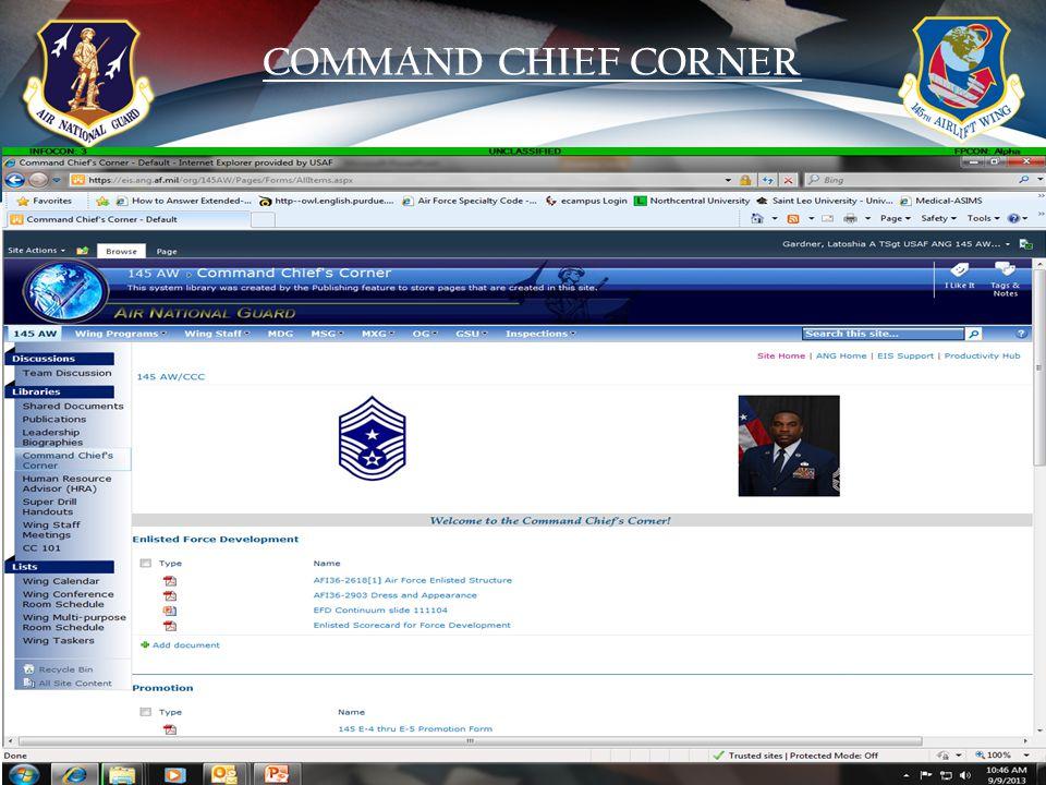 18 COMMAND CHIEF CORNER
