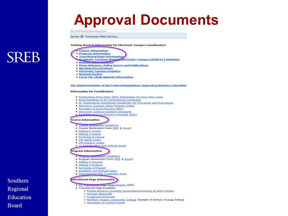 Approval Documents