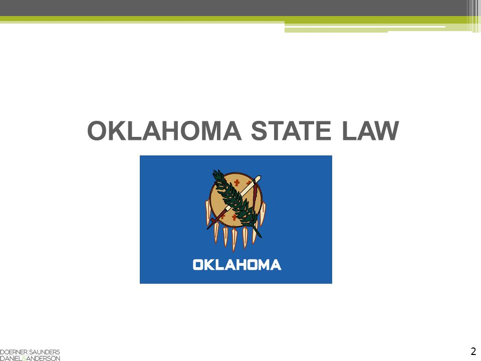2 OKLAHOMA STATE LAW