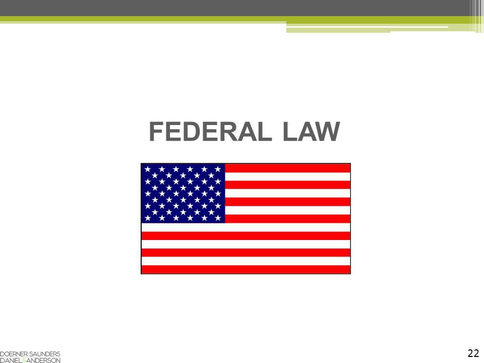 22 FEDERAL LAW