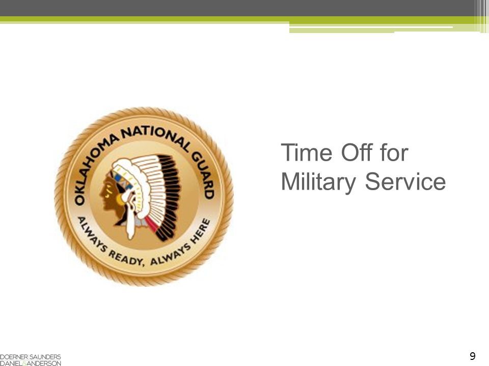 9 Time Off for Military Service
