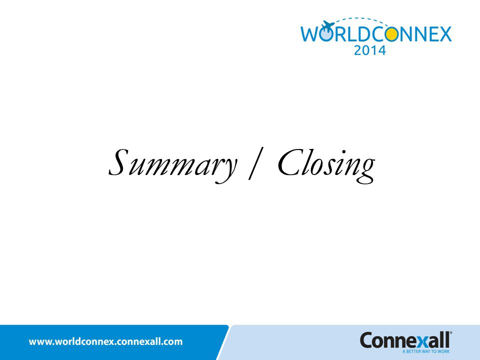 Summary / Closing