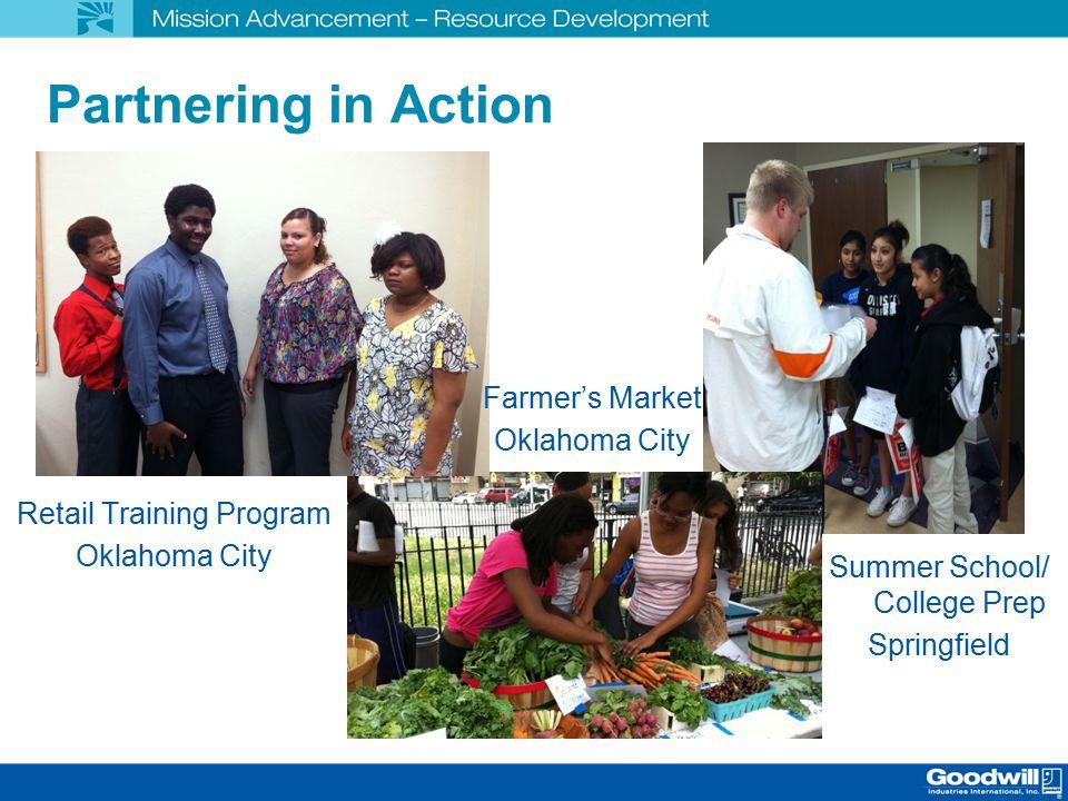 Partnering in Action Retail Training Program Oklahoma City Farmer's Market Oklahoma City Summer School/ College Prep Springfield