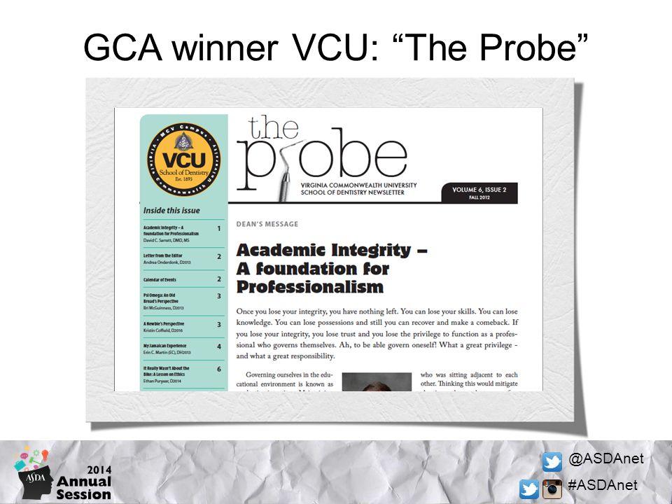@ASDAnet #ASDAnet GCA winner VCU: The Probe