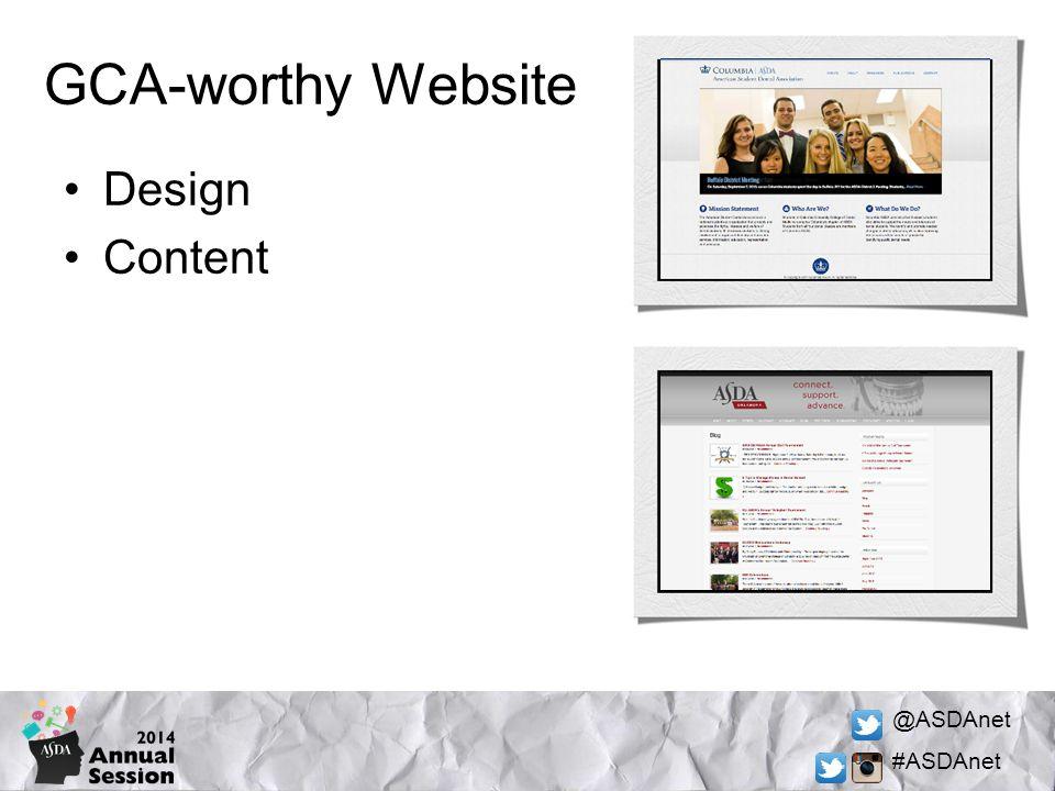 @ASDAnet #ASDAnet Design Content GCA-worthy Website