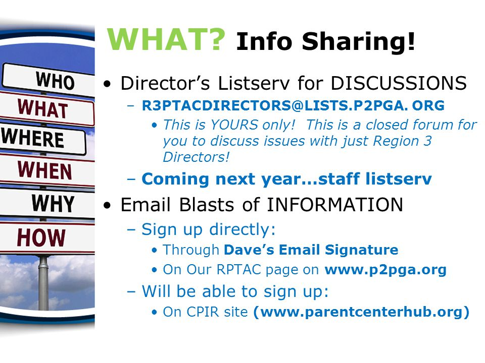 WHAT.Info Sharing.