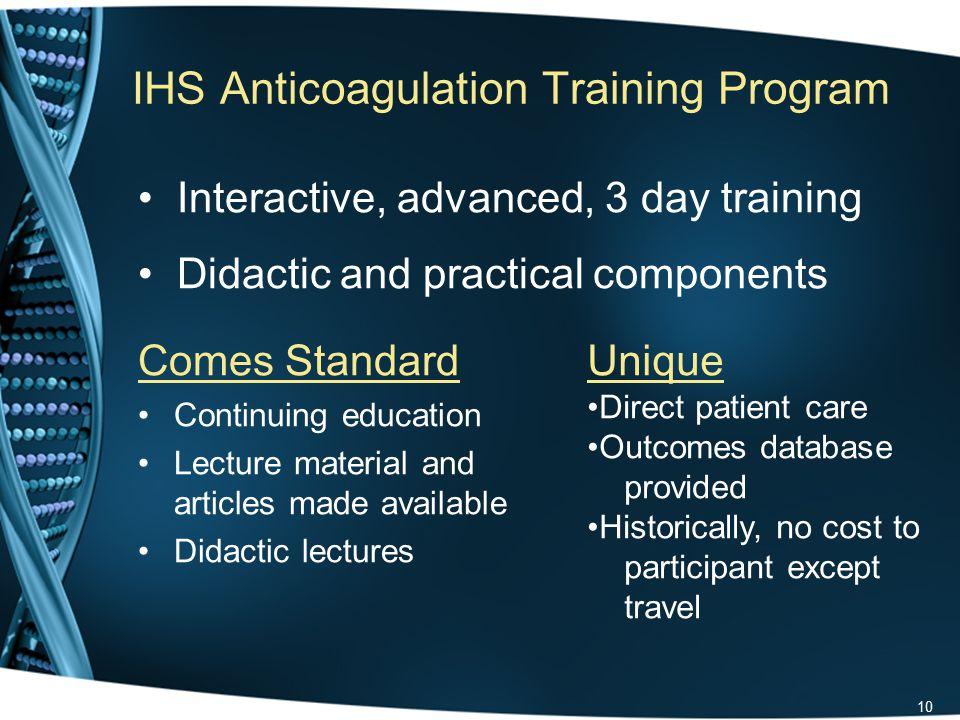 Anticoagulation Training Program Clinical Impact Survey Co-investigators –LCDR Ryan Schupbach, Pharm.D., BCPS, CACP –Michael J.