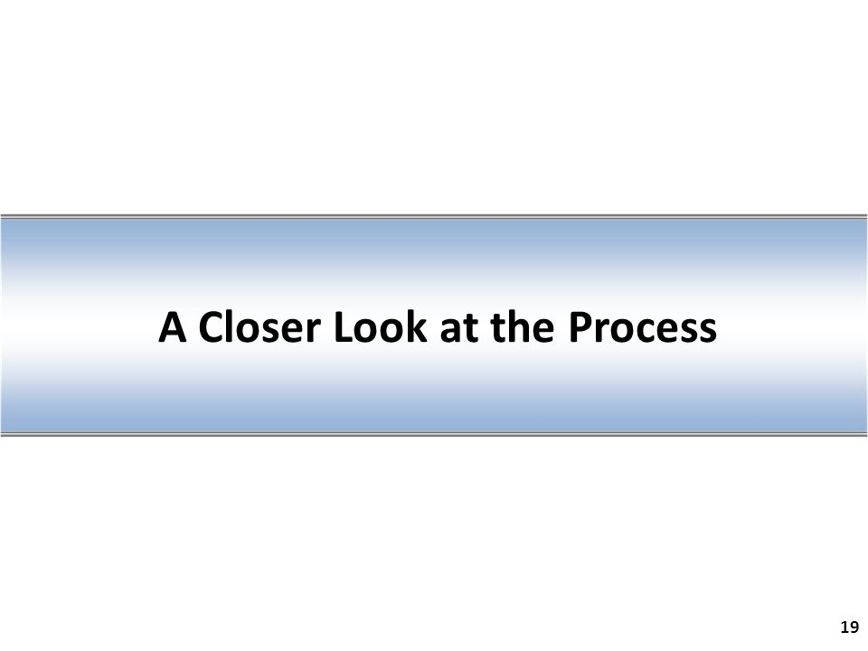 A Closer Look at the Process 19